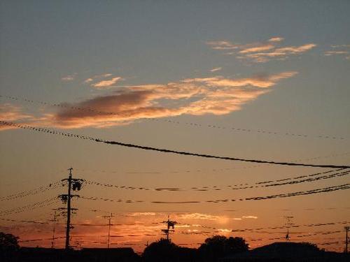 こちらは夕焼け~明日も晴れ!